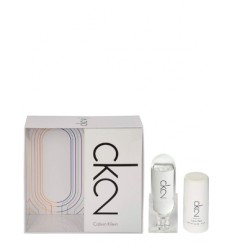 SET CALVIN KLEIN CK2 EDT 100 ML + DEO STICK 75 GR