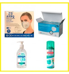 PACK PROTECCION TOTAL 10 (10 FFP + 50 HIG + 1 GEL + 1 SPRAY)